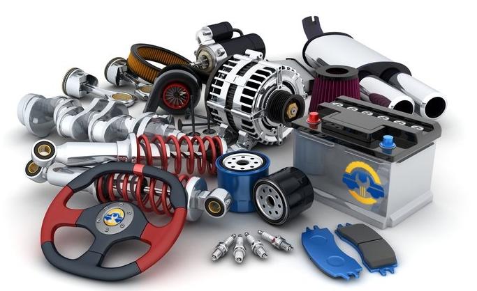 Image numérique avec plusieurs pièces détachées automobile pour indiqué le choix de la pièce auto