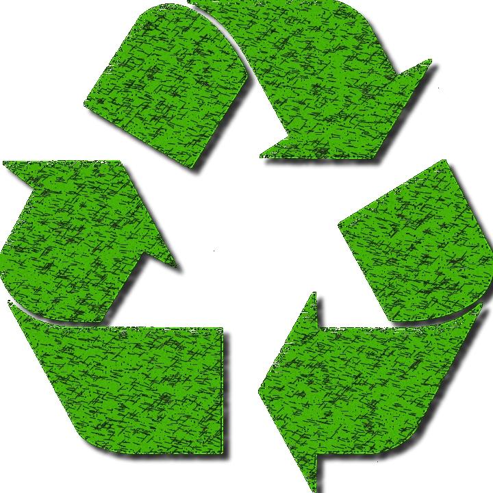 Logo représentant 3 flèches faisant une boucle représentant le logo de l'écologie