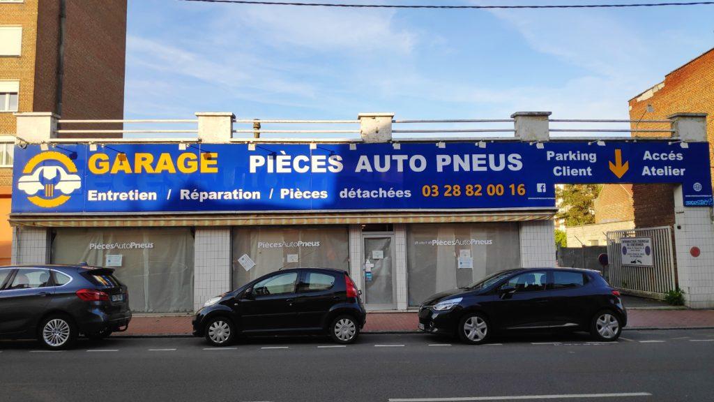 Photo de l'enseigne du garage Pièces Auto Pneus d'Armentières