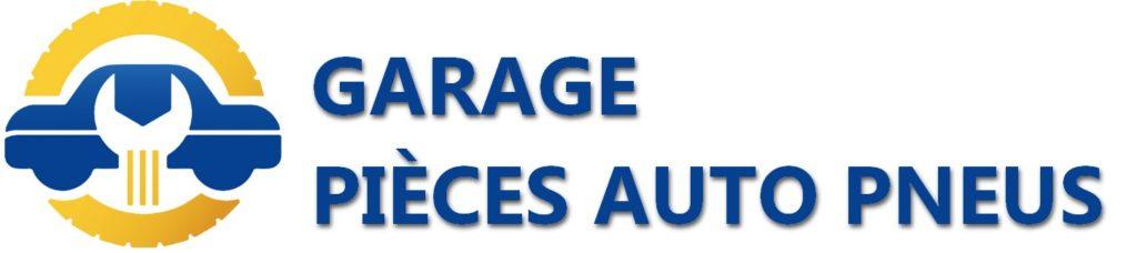 logo et texte garage pièces auto pneus